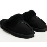 UGG Women Men Slipper Casua Wool Fur Shoes-5