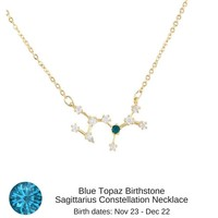 Sagittarius Constellation Zodiac Necklace - As seen in Real Simple & People Magazine