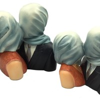 Magritte Lovers with Covered Heads Les Amants Surrealism Statue, Assorted Sizes