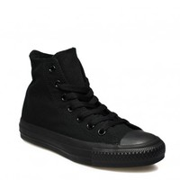 Converse All Star Chuck Taylor Black Monochrome Canvas Hi Tops - unisex trainers - Tower Boots