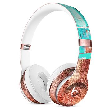 Bright Turquise Rusted Surface Full-Body Skin Kit for the Beats by Dre Solo 3 Wireless Headphones