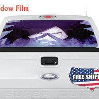 Anime Head Figure Quote Decal Full Color Print Perforated Film Truck SUV Back Window Sticker Perf005