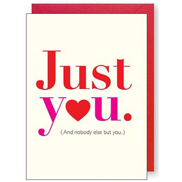Just You. Card
