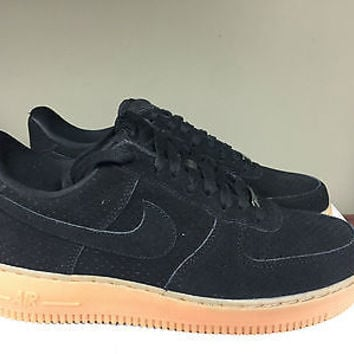 WMNS Nike Air Force 1 '07 Suede 749263-002 Black/Gum Uptown Classic