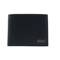 Salvatore Ferragamo Mens Leather Textured Bifold Wallet