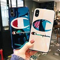Champion Fashion Couple Personality Laser Blue-Ray Mobile Phone Cover Case For iphone 6 6s 6plus 6s-plus 7 7plus 8 8plus X