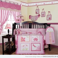 Baby Bedding 13-Piece Crib Bedding Sets with Bumper Included Baby Bundle,Dragonfly