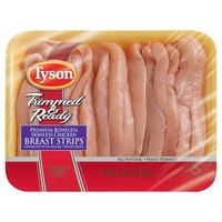 Tyson Trimmed & Ready Premium Boneless Skinless Chicken Breast Strips, 16 oz - Walmart.com
