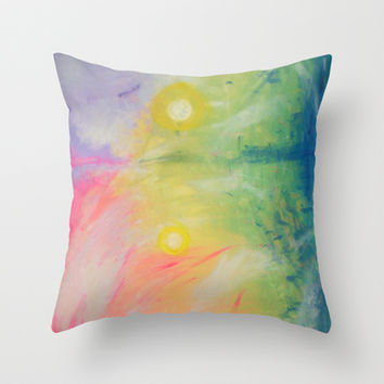 Impressions At Sundown  Throw Pillow by Morgan Ralston