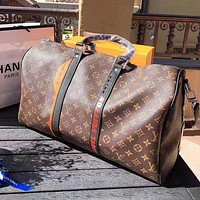 LV Louis Vuitton High Quality Fashion Women Men Leather Large Capacity Luggage Travel Bags Tote Handbag