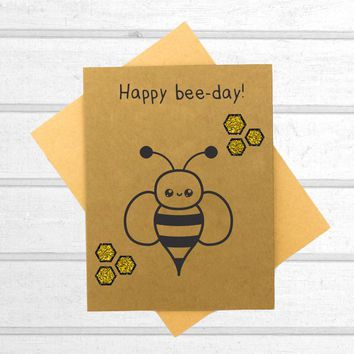 Happy Bee Day - Birthday Card