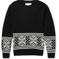 White Mountaineering - Intarsia Wool Sweater | MR PORTER