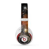 The Glowing Gold & Black Nebula Skin for the Beats by Dre Studio (2013+ Version) Headphones