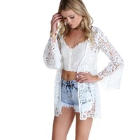 Promo-ivory Once Upon A Time Crochet Jacket