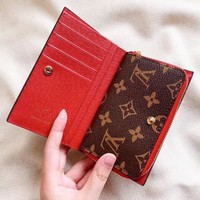 LV Louis Vuitton High Quality Popular Women Leather Multi-Function Wallet Purse