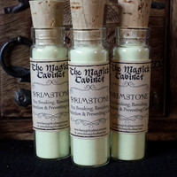Sulfur, Brimstone, Sulfur Powder, Hex Breaking, Banishing, Psychic Protection, Hellfire and Brimstone, Witchcraft Supply, Wicca, Pagan