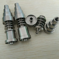 10/14/18mm 6 in 1 adjustable Highly Educated Grade 2 Titanium Domeless E-Nail Nail for 16mm or 20mm Enail Coil