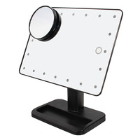 180¡ã Rotatable LED Smart Vanity Mirror 10X Magnification Bathroom Suction Cups Wide View Table Lamp