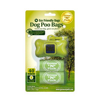 Green-n-count Dog Poo Bags And Dispenser (1x40 Count)