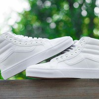 DCCKIJG Vans CUSTOMIZE Customs Sk8-Hi All White ZY-041 Sneaker Casual Shoes