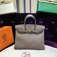 HERMES  Clutch  Cowhide platinum bag