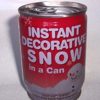 Instant Snow in a Can Gag Gift, Just Add Water