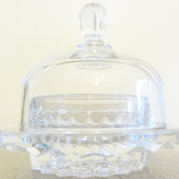 Depression Glass Ring Dish Ring Bearer Display Crystal Will You Marry Me Dish Maybe Fostoria