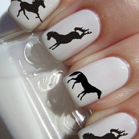 Silhouette Horse Nail Decals