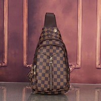 Louis Vuitton Woman Men Fashion Leather Chest Bag Crossbody Shoulder Bag