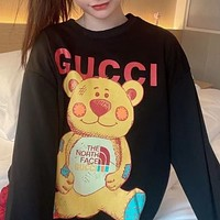 Gucci Yellow Leather Cat Hoodie