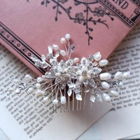 Kelly - Delicate Freshwater Pearl Vine Bridal Comb