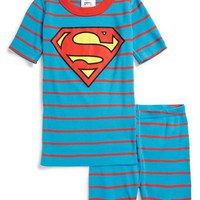Boy's Hanna Andersson 'Superman' Organic Cotton Two-Piece Fitted Pajamas,