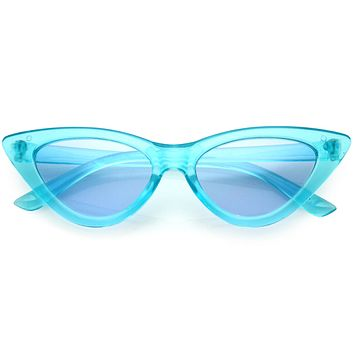Kids Crystal Color Tinted Cat Eye Sunglasses D144