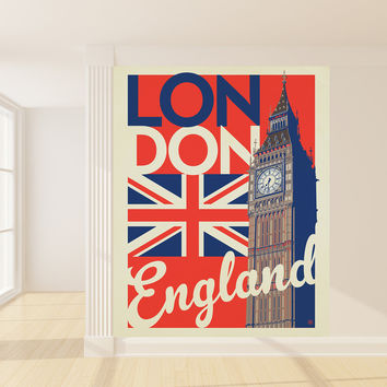 Anderson Design Group's London Flag Mural wall decal