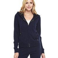 Regal Cashmere Sweater Hoodie W/ Scarf Print by Juicy Couture,