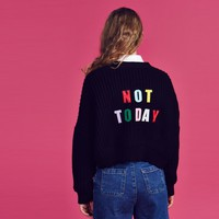 Lazy Oaf Not Today Cropped Cardigan - View all - NEW IN - Womens