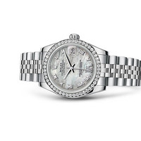 Rolex Datejust 31 Watch: White Rolesor - combination of 904L steel and 18 ct white gold - 178384