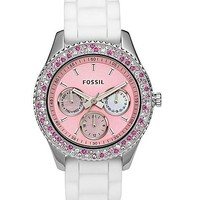 Fossil Pink Dial Watch - Women's Watches   Buckle