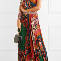 Etro - One-shoulder printed crepe de chine maxi dress