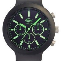 Men's Lacoste 'Borneo' Chronograph Watch, 44mm - Black/ Green