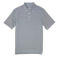 Classic Performance Polo in Blueberry and White Stripe by Southern Proper