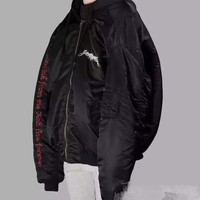 Vetements Hip hop Kan Kan student Kanye West jacket fog magic array 5 star, Black Embroidered Hat and cotton padded clothes