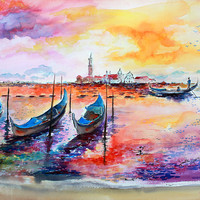 Venice Italy Gondola Ride by Ginette Callaway