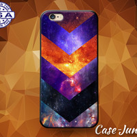 Galaxy Chevron Design Pattern Space Stars Colors Cute Case For iPhone 5 5s 5c and iPhone 6 and 6 Plus + and iPhone SE iPhone 7 Plus Case