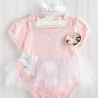 Baby Aspen Pink Big Dreamzzz Princess Skirted Bodysuit Set   Something special every day