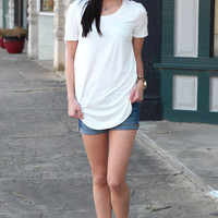 Emma's Basic Short Sleeve Top {Ivory}