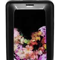 Ted Baker London 'Large Cascade Floral' Hard Shell Suitcase - Black (32 Inch)