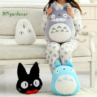 Stuff Toys Totoro Cat Grey/blue Plush toys pillow Home Decor Bedroom Creative sofa cushion