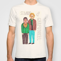 Simon & Garfunkel T-shirt by Angela Dalinger