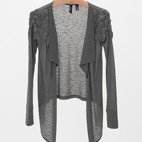 BKE Boutique Slub Fabric Cardigan